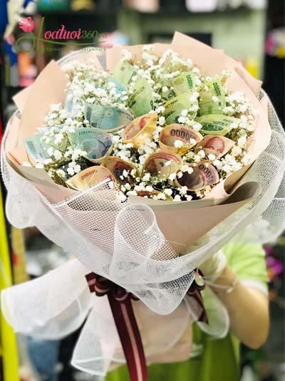 Bó hoa bằng tiền - Lời yêu thương