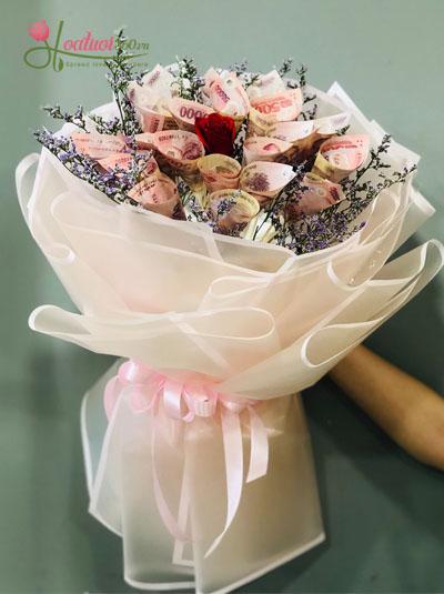Bó hoa bằng tiền - Món quà độc đáo
