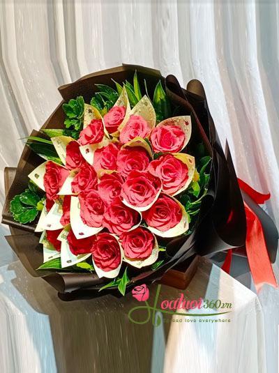 Bó hoa bằng tiền - Trọn tấm lòng