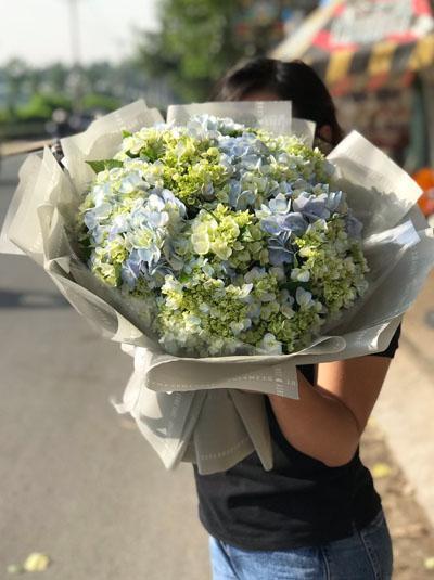 Bó hoa cẩm tú cầu - Niềm vui của em