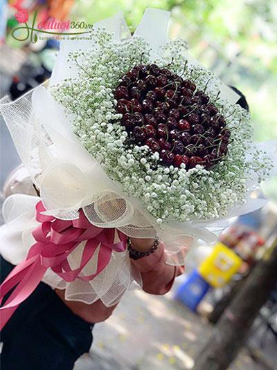 Bó hoa cherry - Có chút ngọt