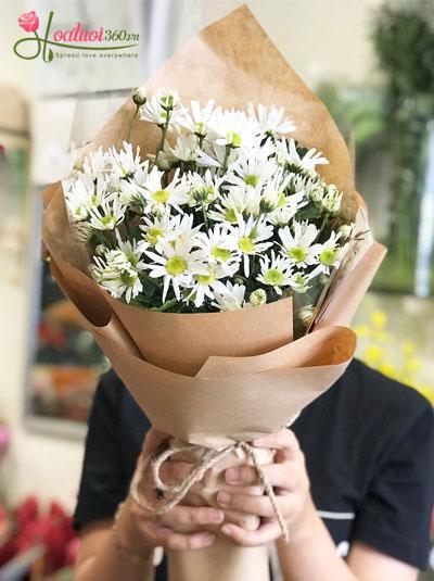 Bó hoa cúc họa mi - dễ thương