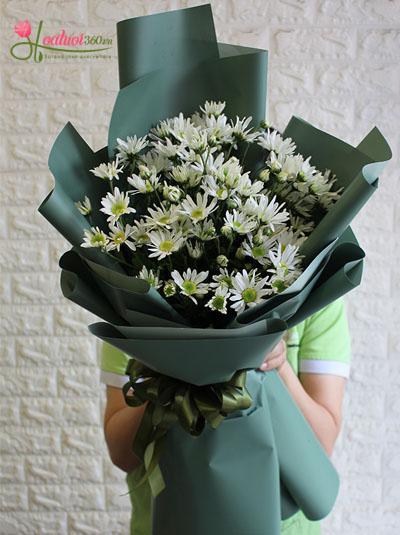 Bó hoa cúc họa mi - Nét đẹp Hà Nội
