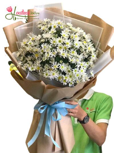 Bó hoa cúc họa mi - Nét đẹp tinh khiết