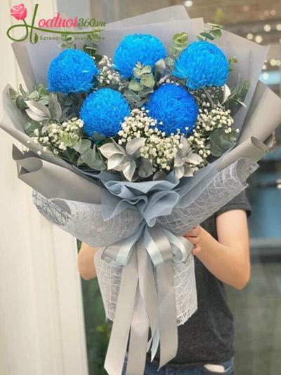 Bó hoa cúc mẫu đơn xanh - Điều kỳ diệu