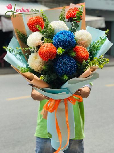 Bó hoa cúc mẫu đơn - Nổi bật
