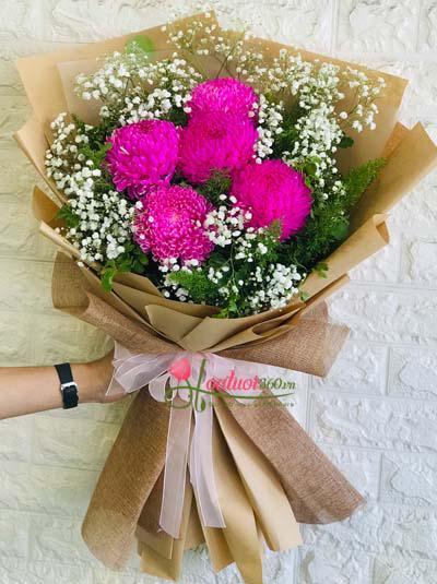 Bó hoa cúc mẫu đơn - Tình thân