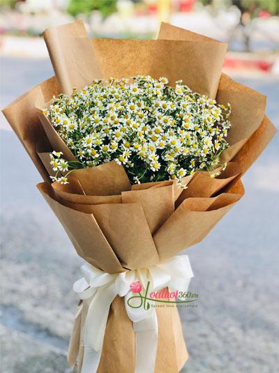 Bó hoa cúc tana - Nét đẹp đồng nội