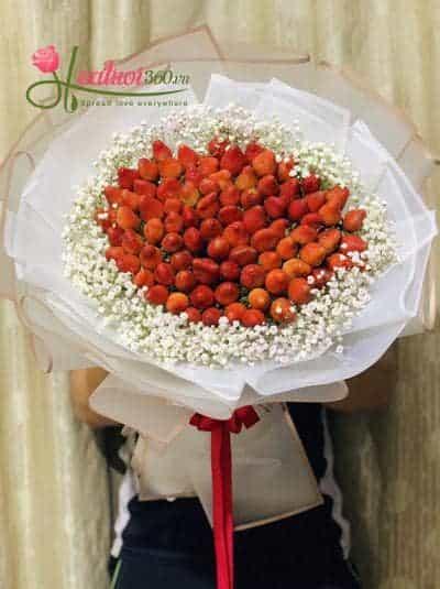 Bó hoa dâu tây - Romantic strawberries
