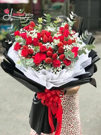 Bó hoa dâu tây - Trọn vị ngọt