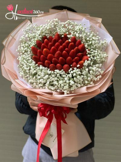 Bó hoa dâu tây - Vị ngọt ngào