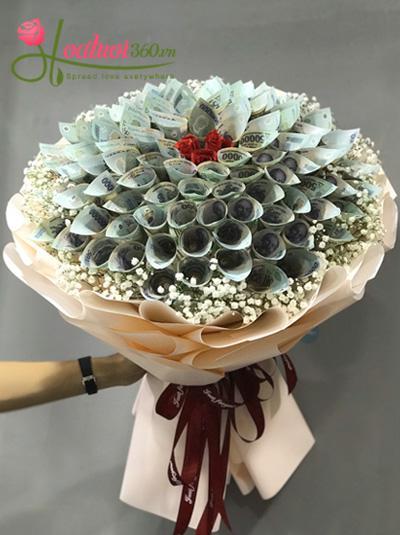 Bó hoa bằng tiền 99 bông - 81 kiếp yêu vĩnh cửu
