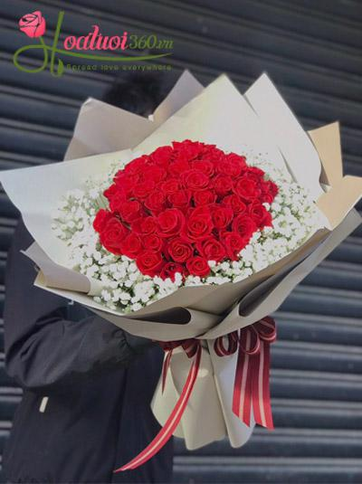 Bó hoa hồng - Nồng nàn hạnh phúc
