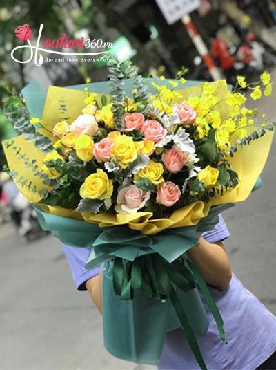 Bó hoa hồng - Biết ơn