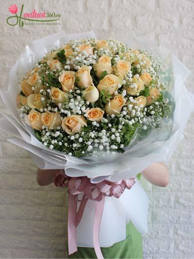 Bó hoa hồng cam - Ngọn lửa tình yêu