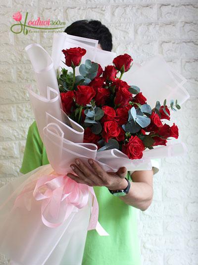 Bó hoa hồng - Chào giáng sinh
