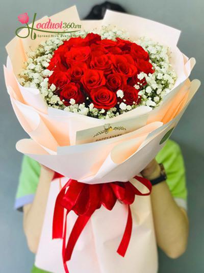Bó hoa hồng - Cháy bỏng