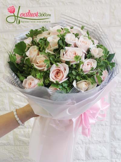 Bó hoa hồng da - Điều ngọt ngào nhất