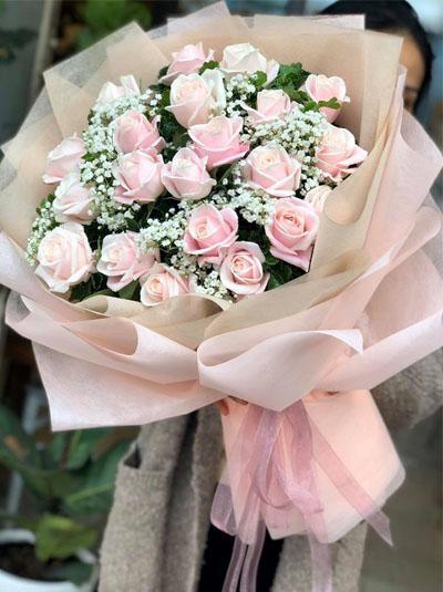 Bó hoa hồng da tặng nàng