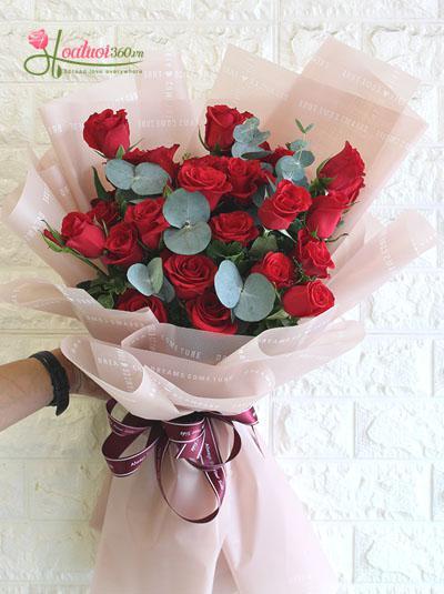 Bó hoa hồng đáng yêu