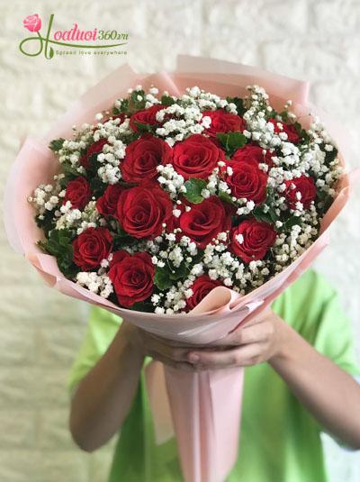 Bó hoa hồng đỏ- Bên nhau