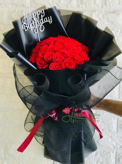 Bó hoa hồng đỏ đẹp nhất dành cho em