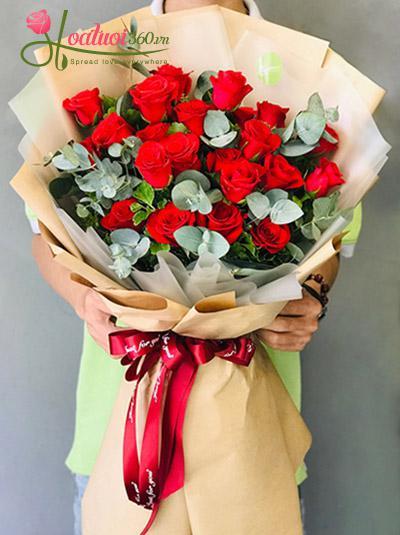 Bó hoa hồng đỏ - Lời hẹn ước