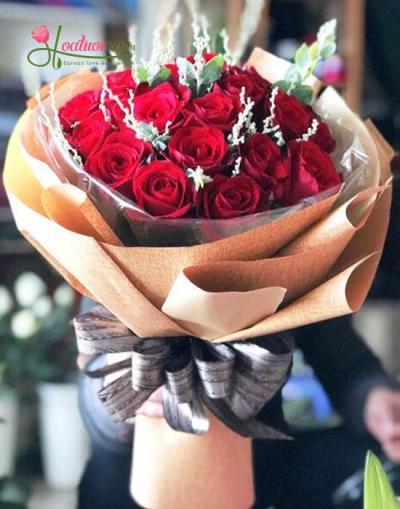Bó hoa hồng đỏ đẹp dành tặng chúc mừng sinh nhật mẹ thân yêu