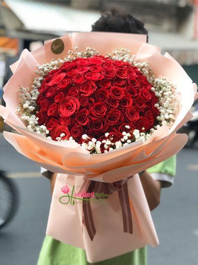 Bó hoa hồng đỏ - Sweet love