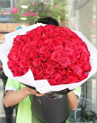 Bó hoa hồng đỏ to và đẹp nhất