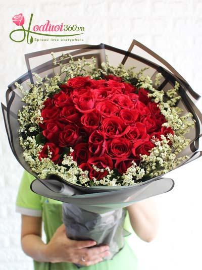 Bó hoa hồng đỏ- Yêu say đắm