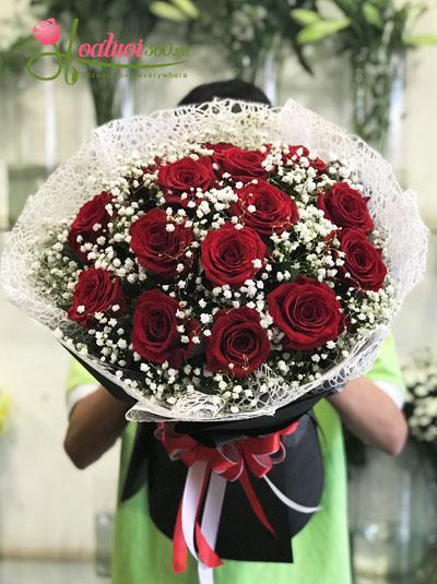 Bó hoa hồng Ecuador- Kỷ niệm tình yêu