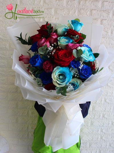 Bó hoa hồng ecuador mix sang trọng nhất