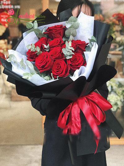 Bó hoa hồng Ecuador - Phong cách Tây