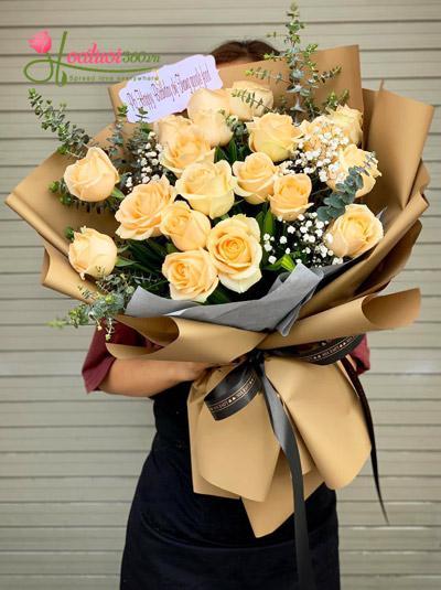 Bó hoa hồng gà - Tặng vợ yêu