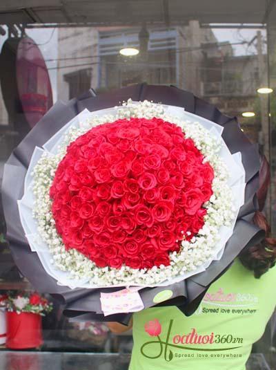 Bó hoa hồng - Hạnh phúc lớn lao