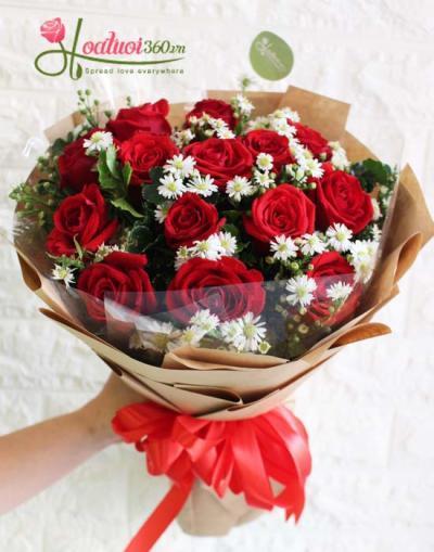 Bó hoa hồng- Happy day