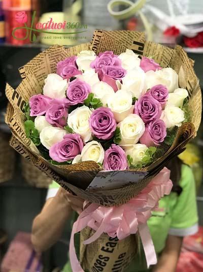 Bó hoa hồng lãng mạn