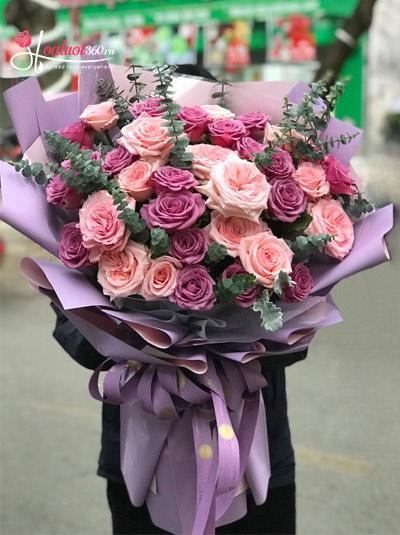 Bó hoa hồng Ohara - Ngây thơ