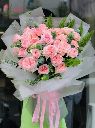 Bó hoa hồng Ohara Rose