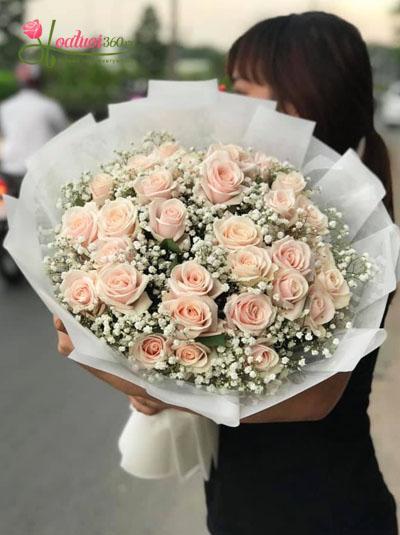 Bó hoa hồng pastel - Happy day