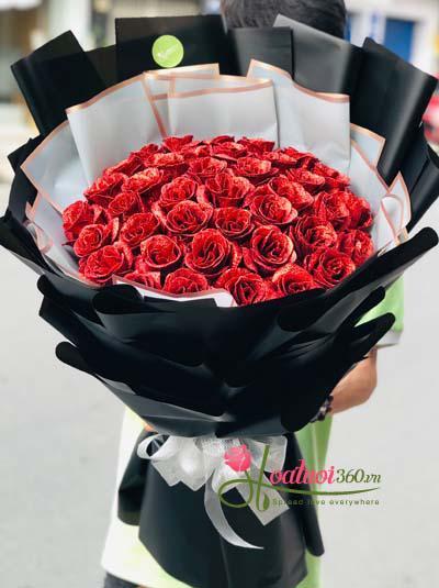 Bó hoa hồng sáp-  Nụ cười của em