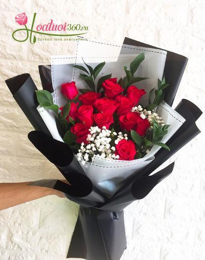 Bó hoa hồng tặng bạn gái