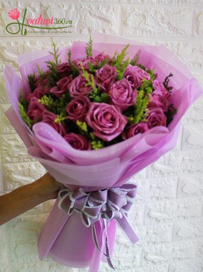 Bó hoa hồng tím - Tình thơ