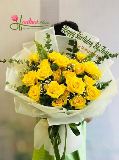 Bó hoa hồng vàng - Nét tươi thắm
