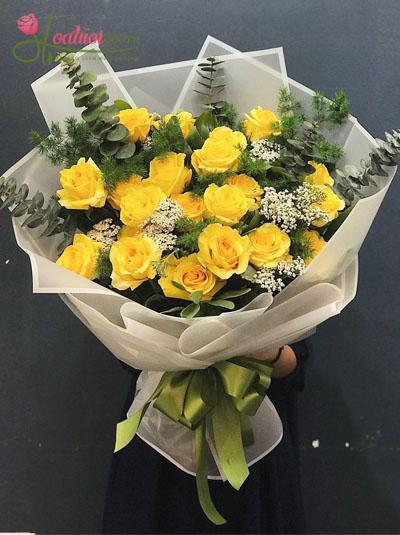 Bó hoa hồng vàng đẹp nhất
