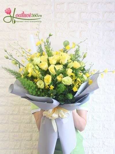 Bó hoa hồng vàng - Rực rỡ