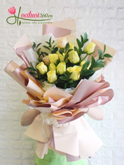 Bó hoa hồng vàng - Tình nồng