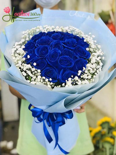 Bó hoa hồng xanh - Tình yêu bất diệt