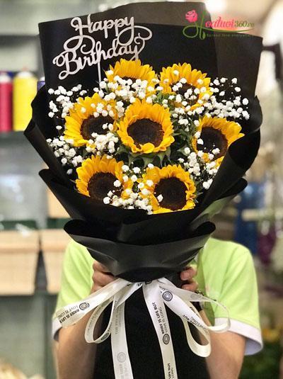 Bó hoa hướng dương chúc mừng sinh nhật